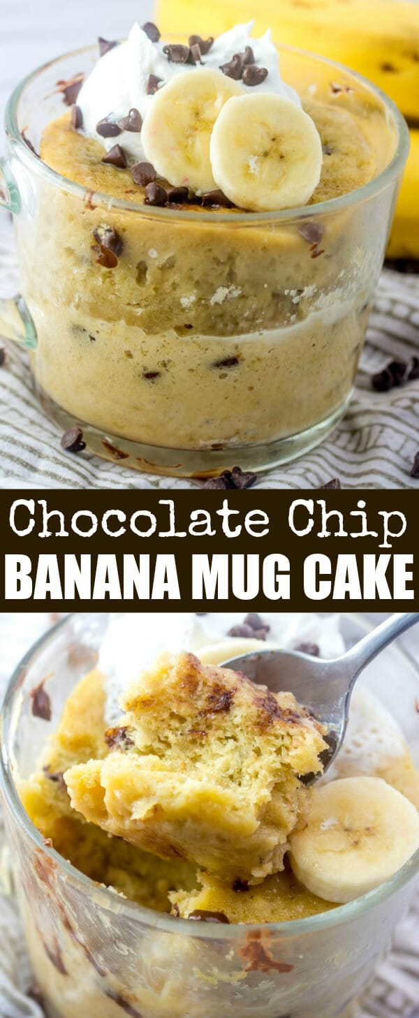 Chocolate Chip Banana Mug Cake