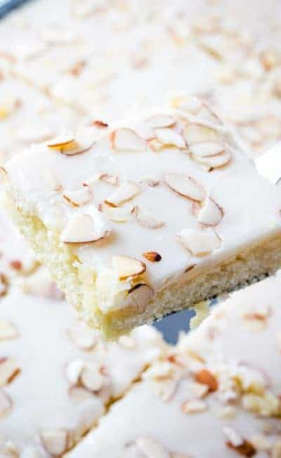 White Almond Texas Sheet Cake
