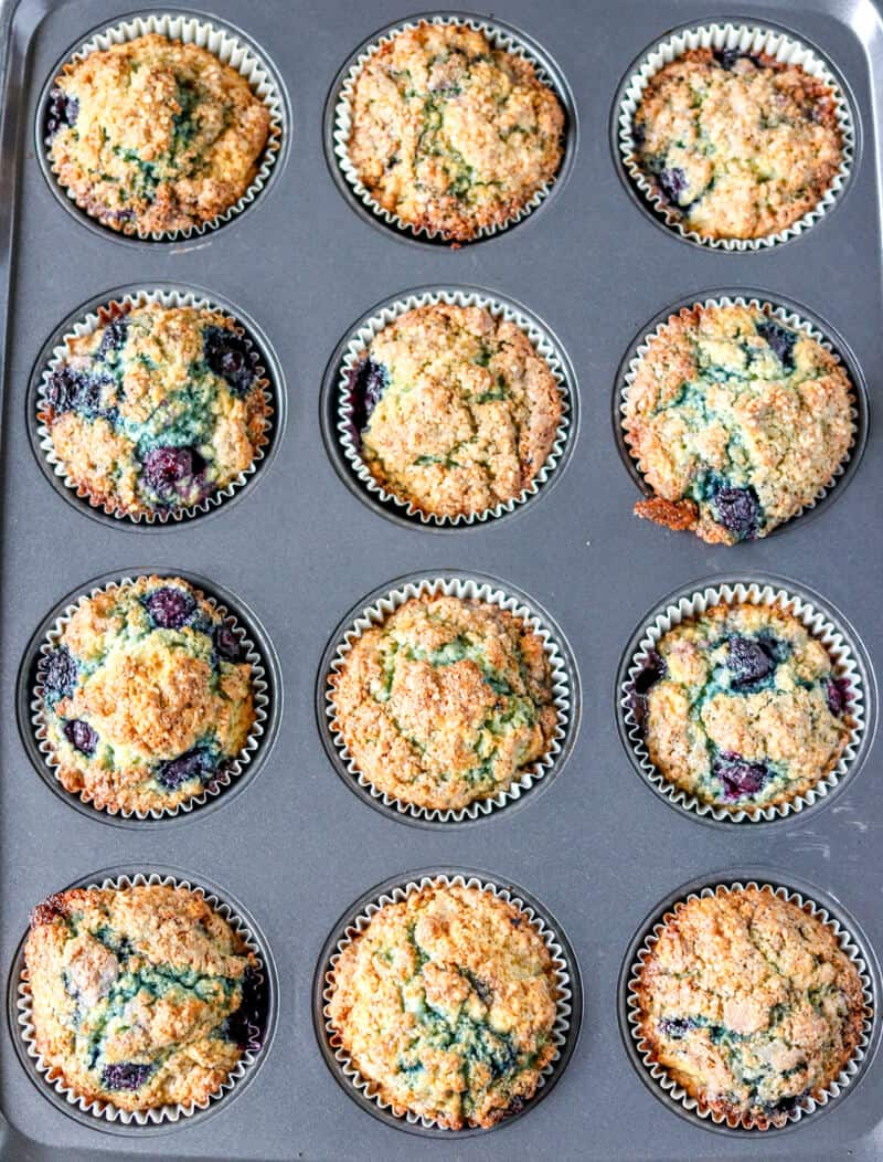 Blueberry Muffins in baking pan