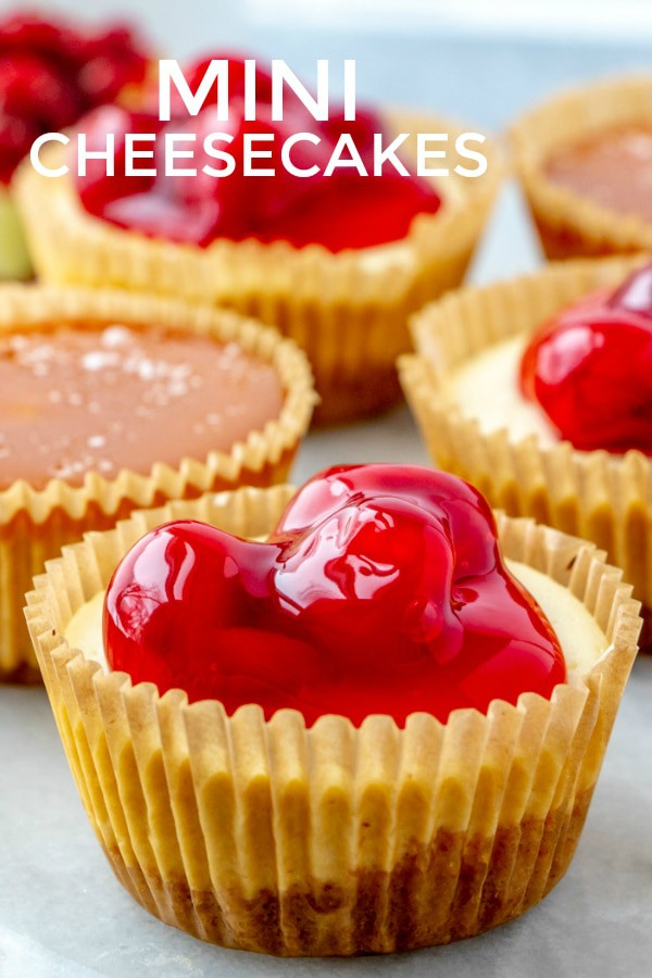 Mini cheesecakes pinterest image