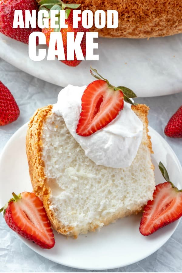 Angel food cake pinterest image