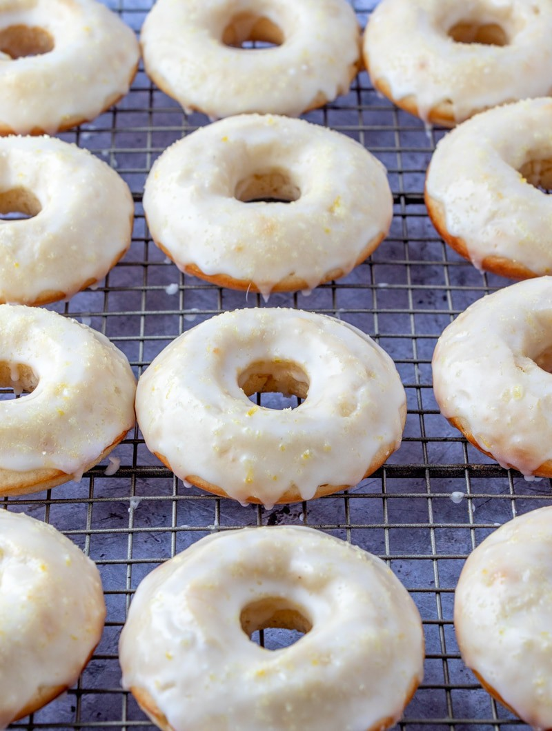 Lemon Donuts on cooling rack