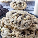 Pinterest image of Cookies and Cream Cookies