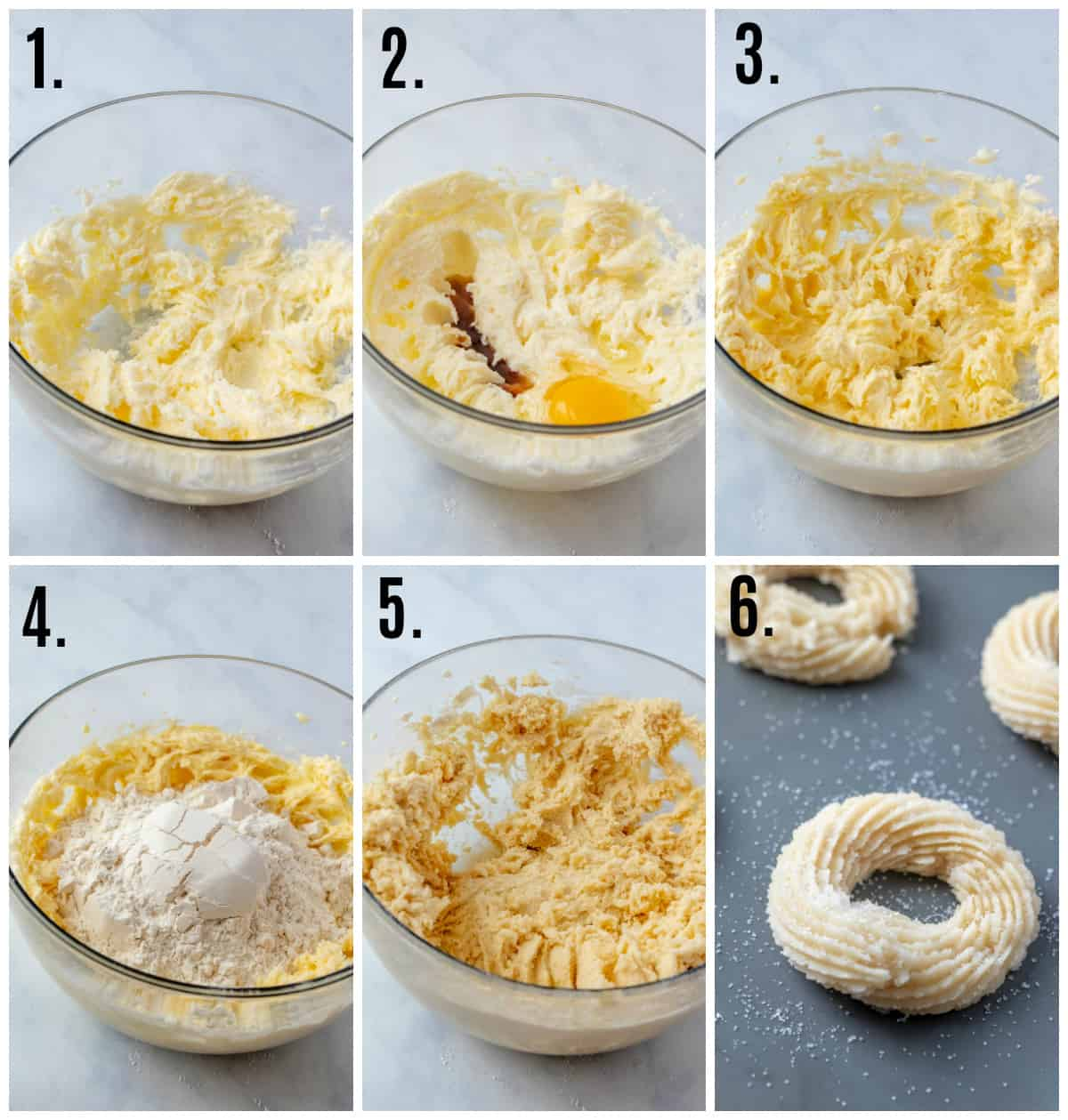 Step by step photos on how to make danish butter cookies