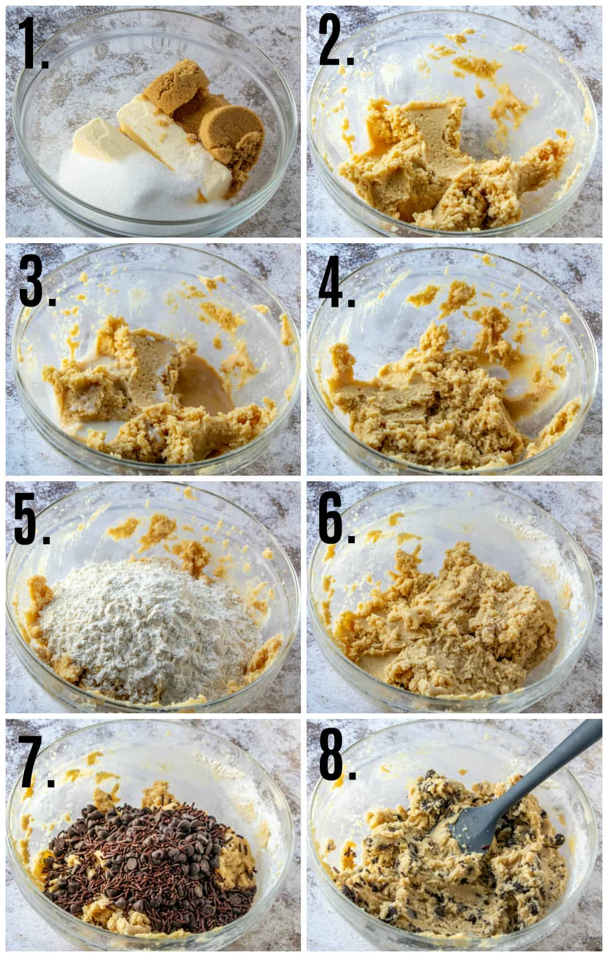 Step by step photos of how to make Chocolate Chip Edible Cookie Dough