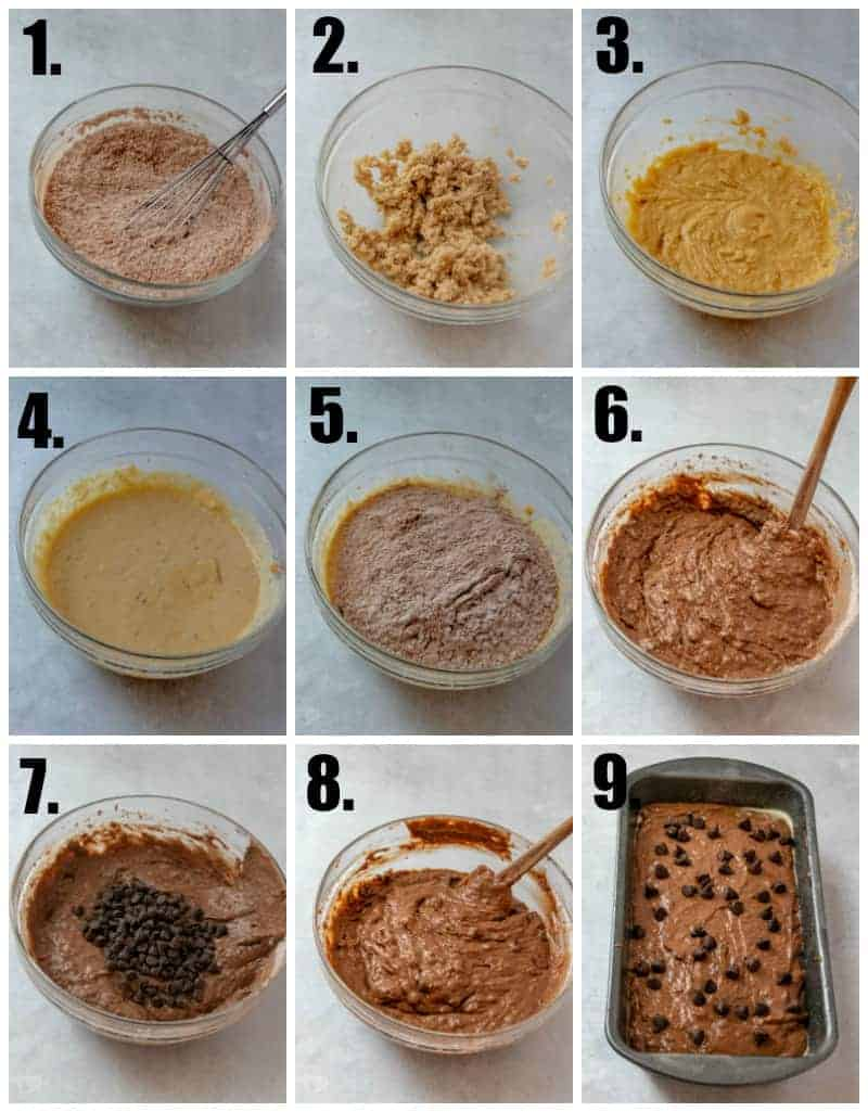 Step by step photos on how to make Chocolate Chip Banana Bread