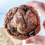 Nutella cookie in hand square image