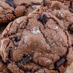 Nutella Cookies Pinterest Image up close of cookie