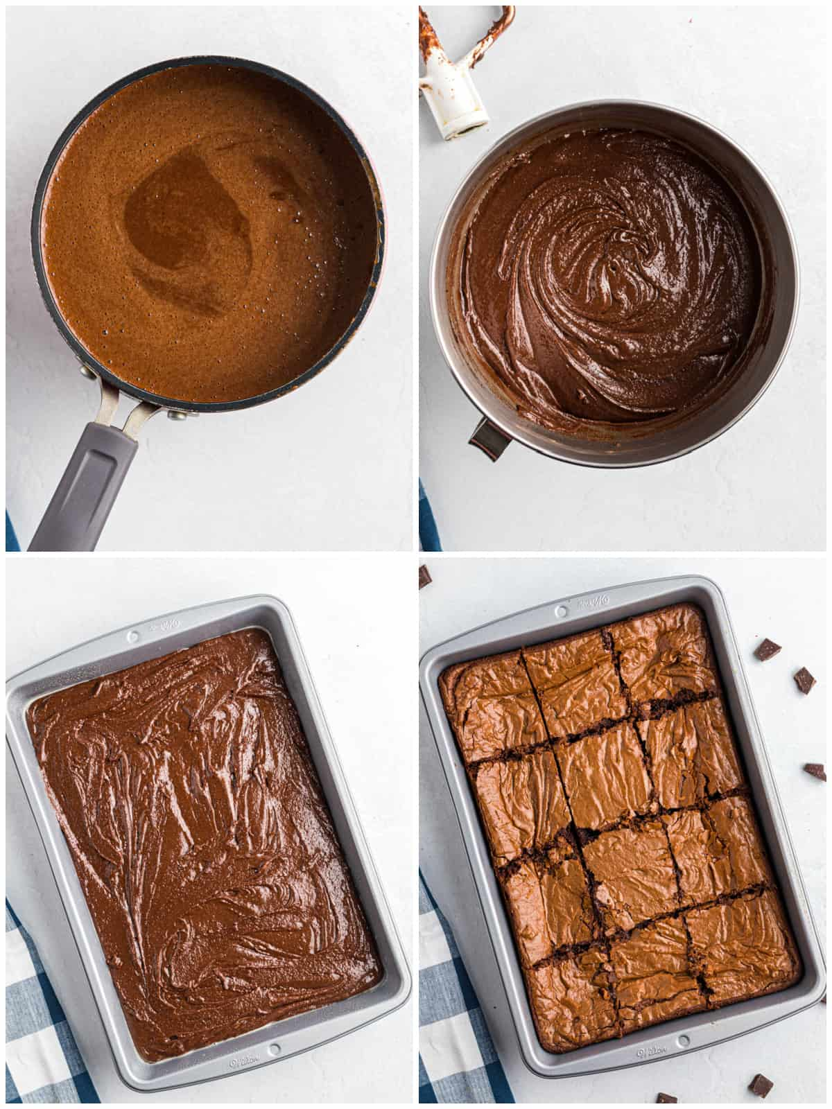 Step by step photos on how to make Easy Brownies