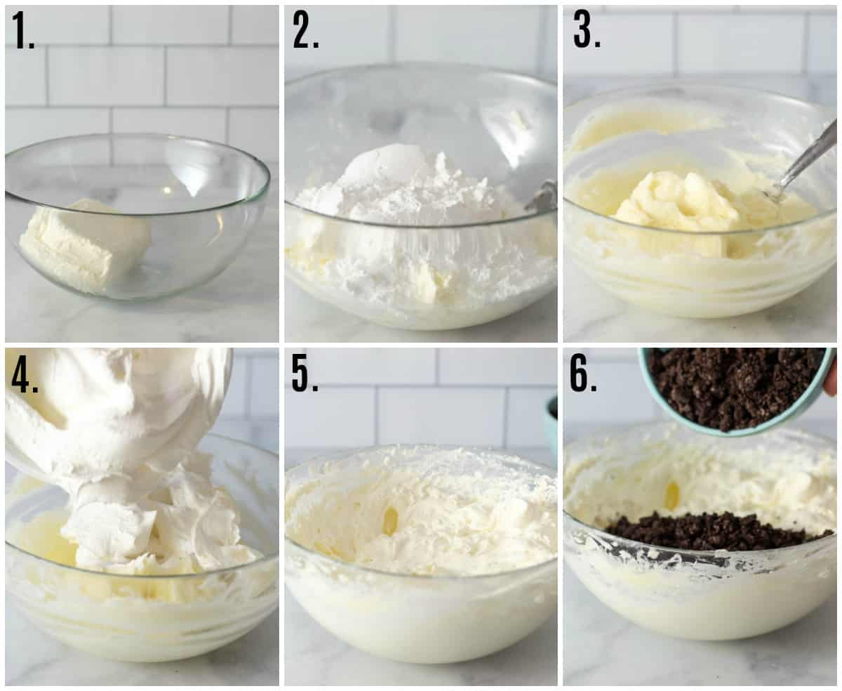 Step by step photos on how to make Cheesecake Dip