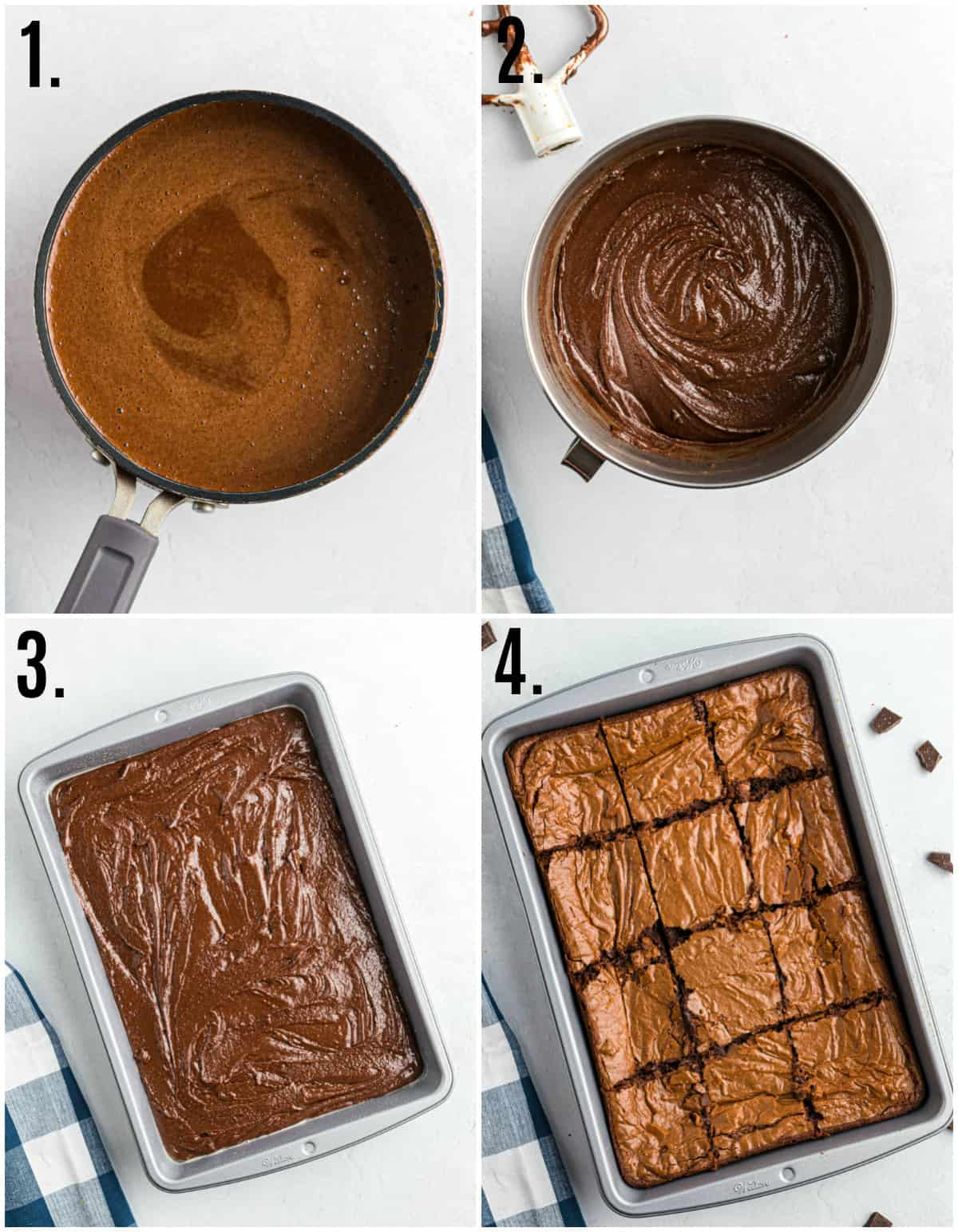 Step by step photos on how to make The Best Easy Brownies