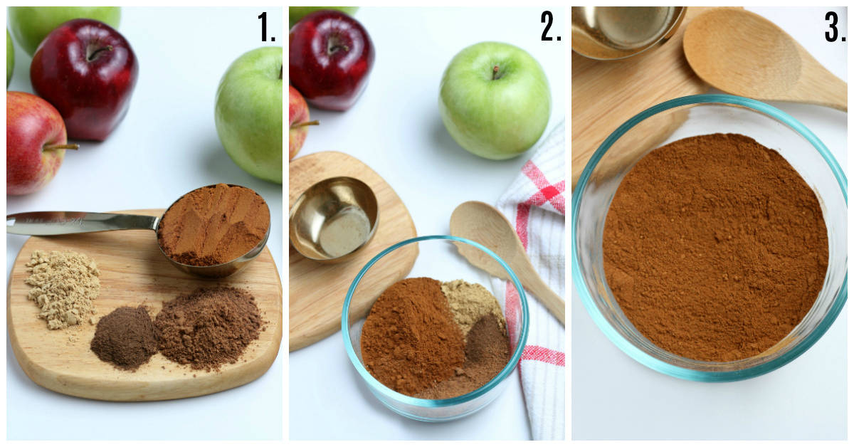 Step by step photos on how to make Apple Pie Spice