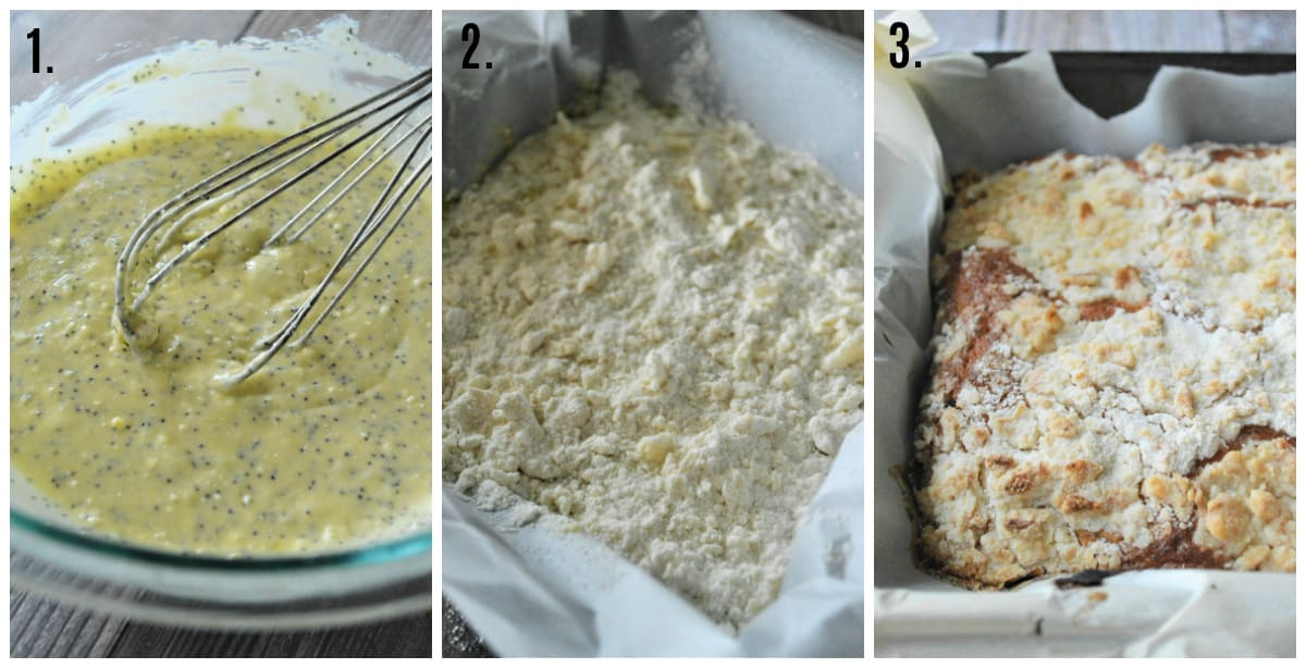 Step by step photos on how to make Lemon Poppy Seed Coffee Cake