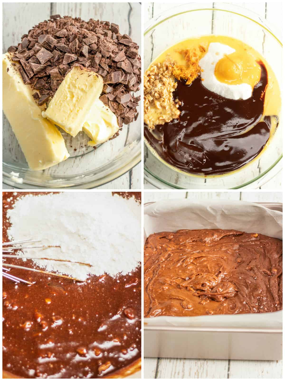 Step by step photos on how to make Chocolate Orange Brownies