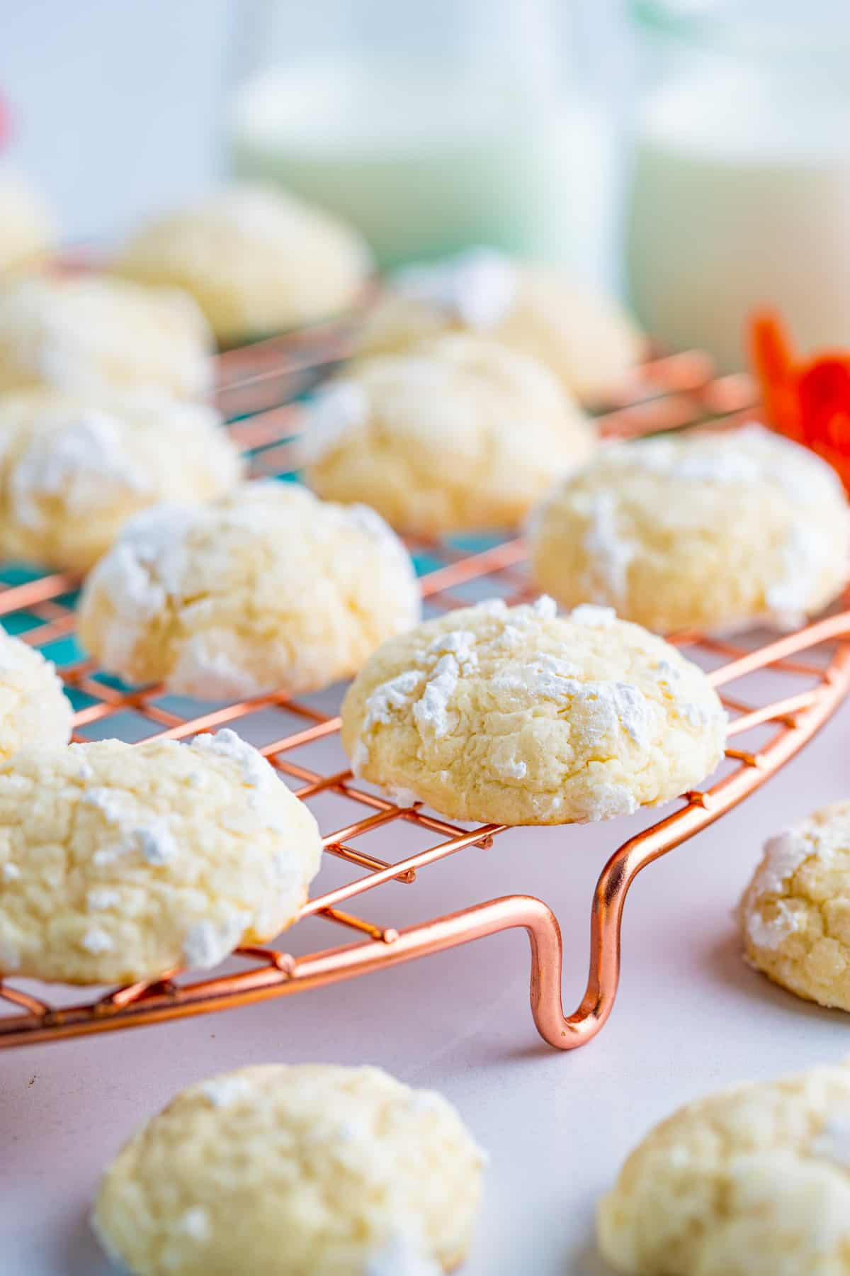 Cream Cheese Cookies on wire rack