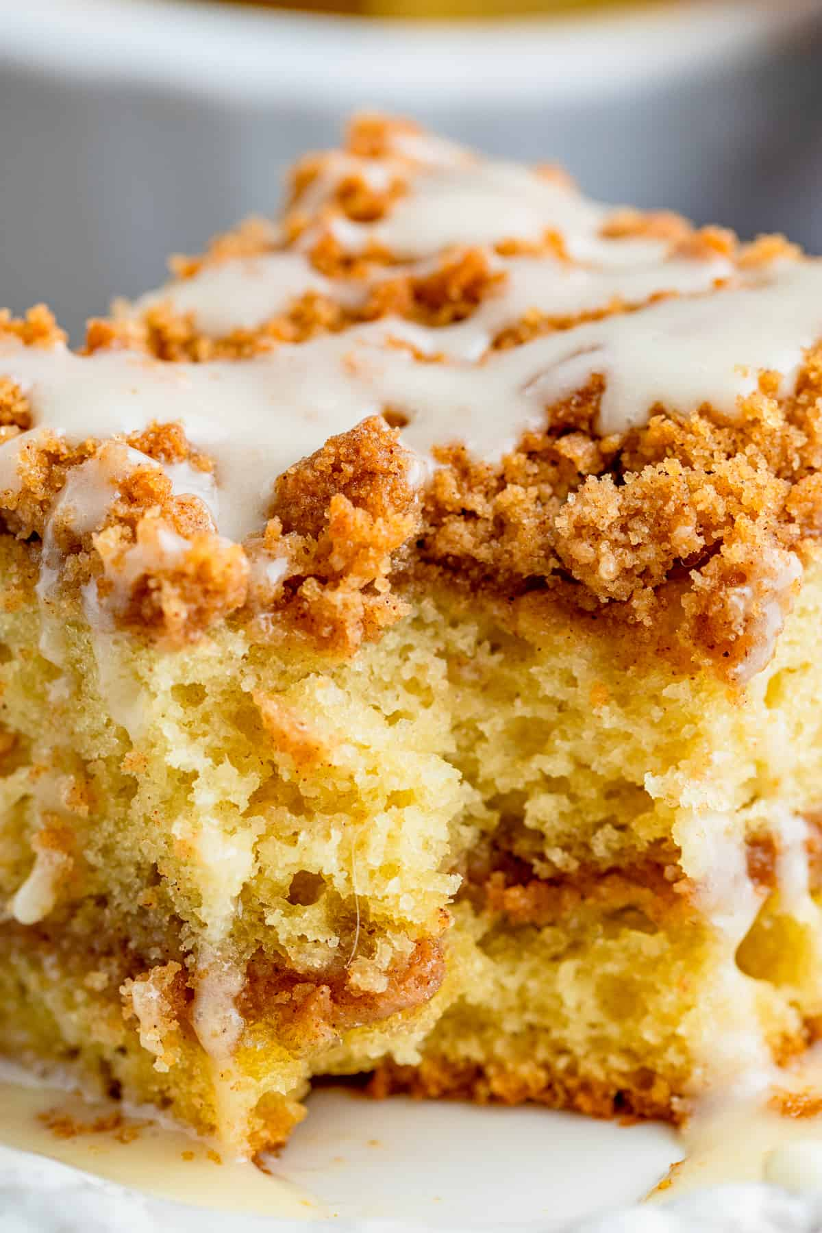 Close up of inside of Sour Cream Coffee Cake
