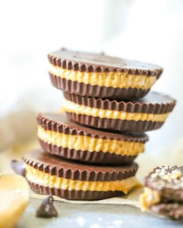 Four stacked Homemade Peanut Butter Cups square image