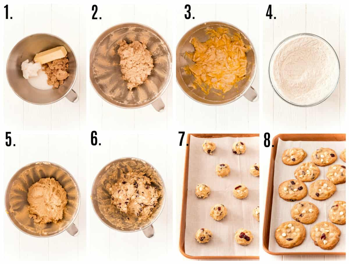 Step by step photos on how to make Macadamia Nut Cookies
