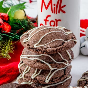 Stacked Peppermint cookies