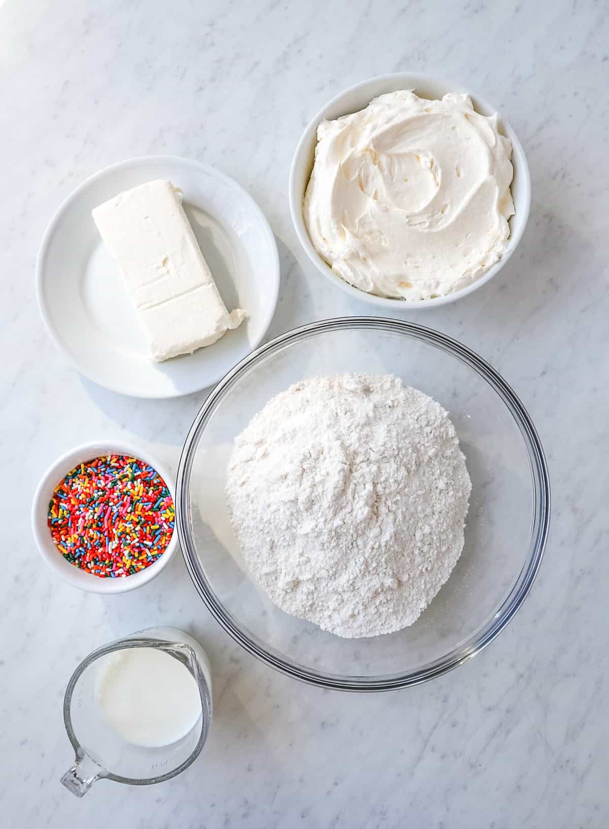 Ingredients needed to make Funfetti Dip