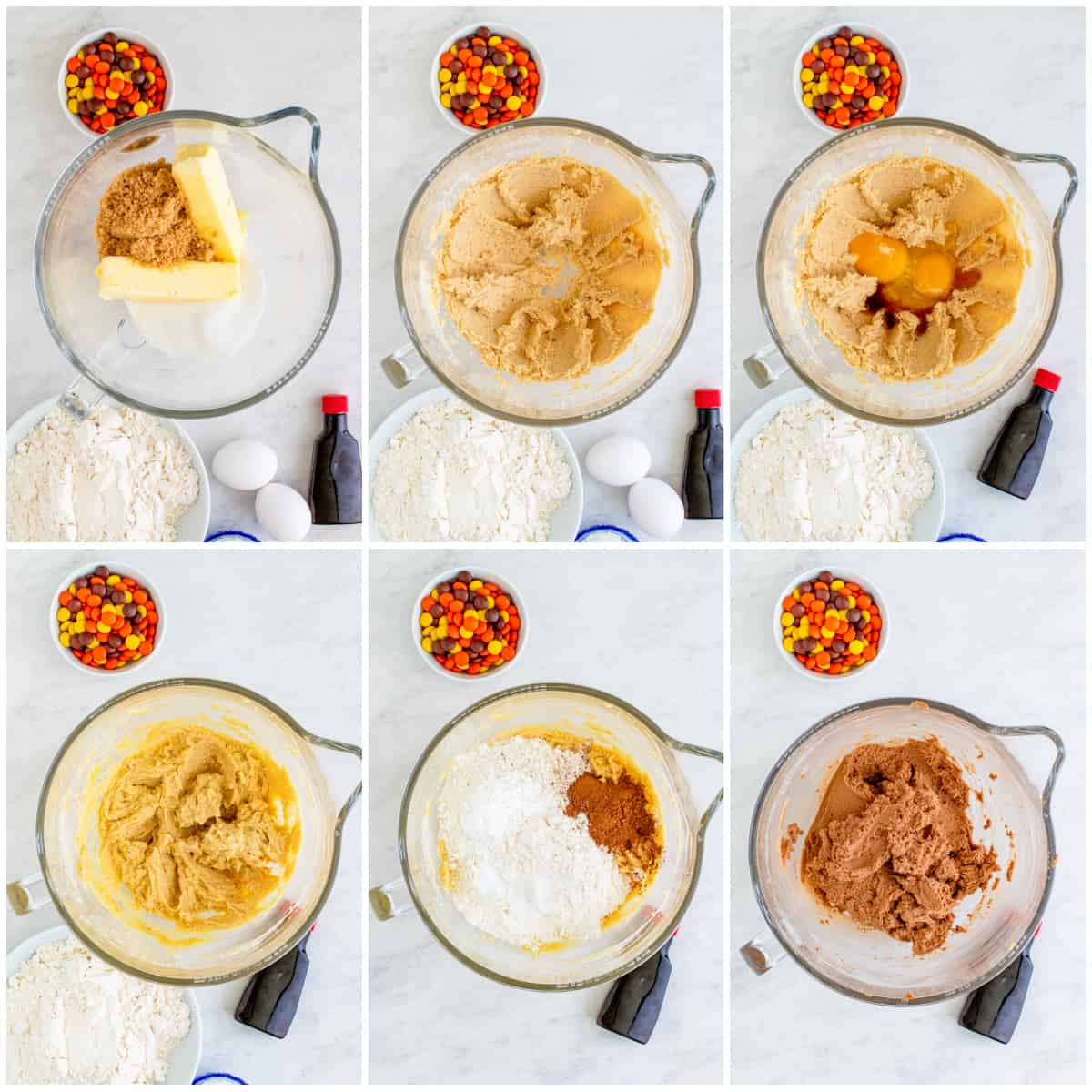 Step by step photos on making cookie dough