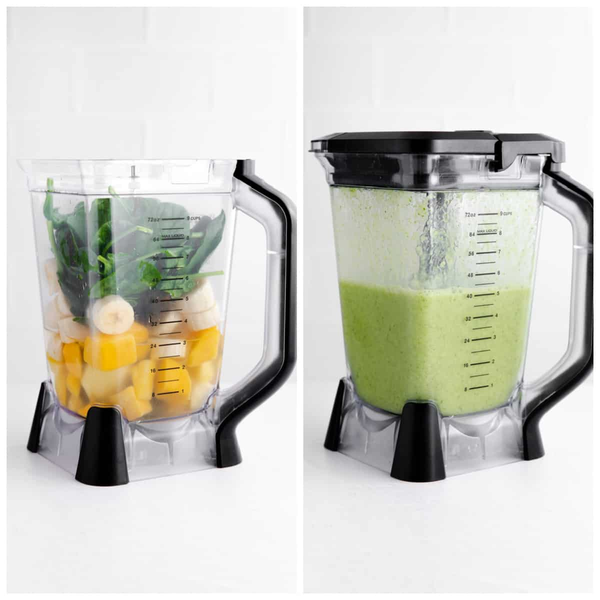 Step by step photos on how to make a Green Smoothie Recipe