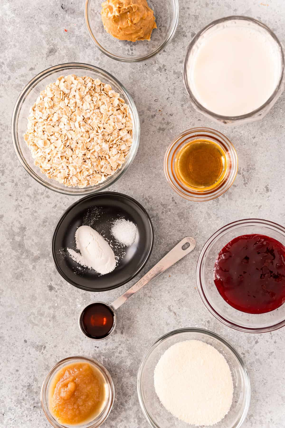 Ingredients need to make Baked Oats