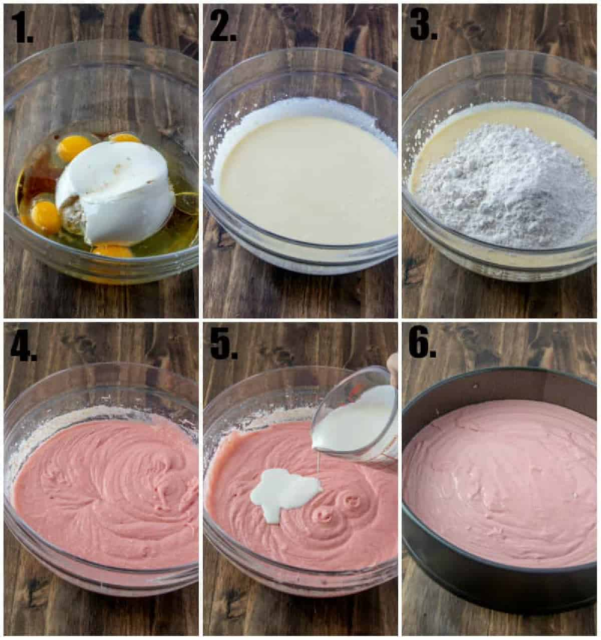 Step by step photos on how to make a Strawberry Ricotta Cake