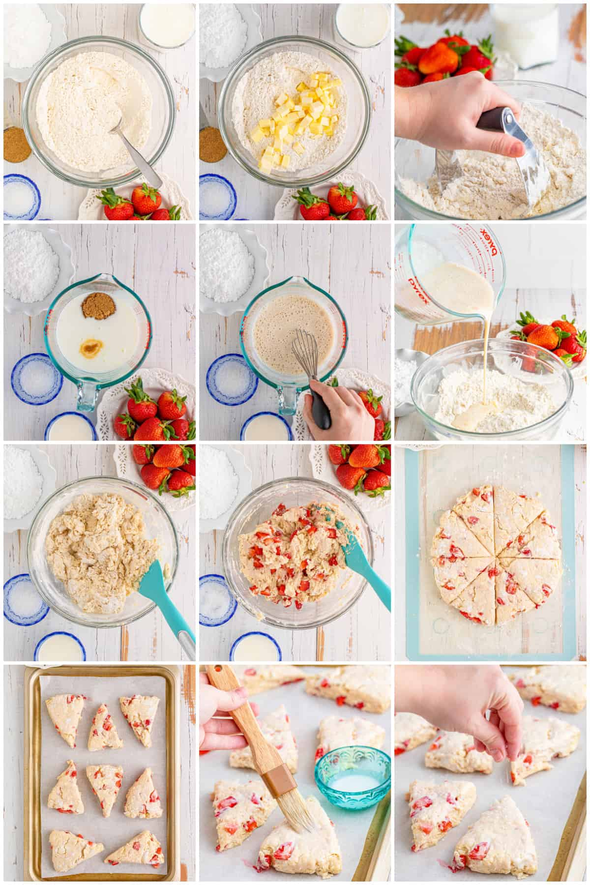 Step by step photos on how to make Strawberry Scones