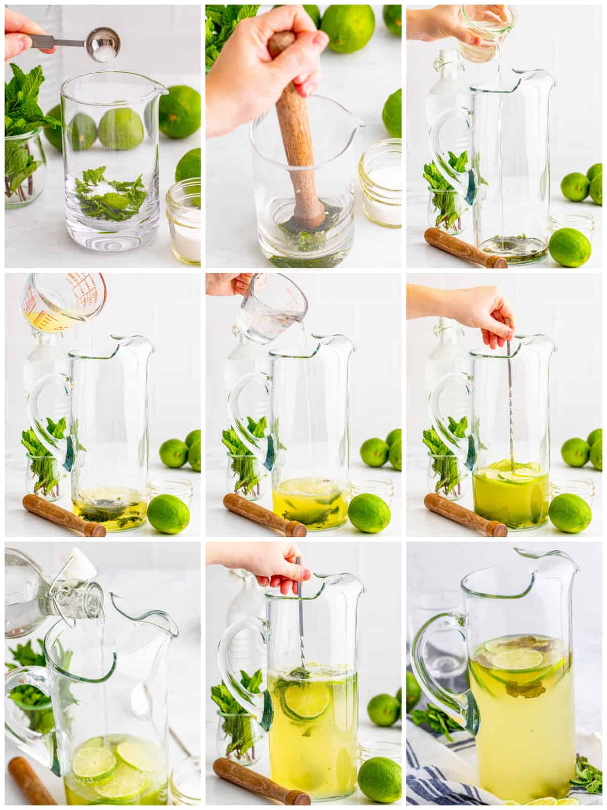Step by step photo on how to make Pitcher Mojitos