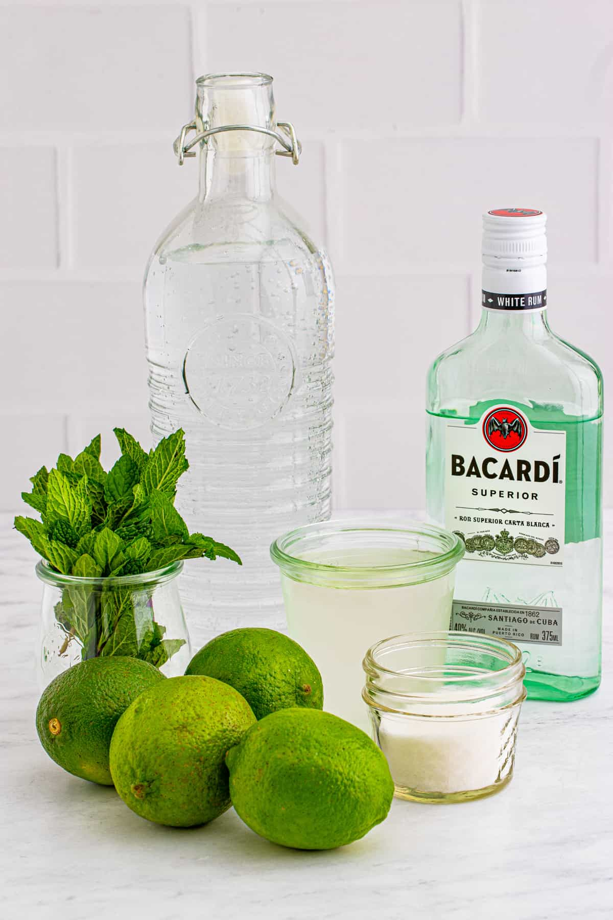 Ingredients needed to make Pitcher Mojitos