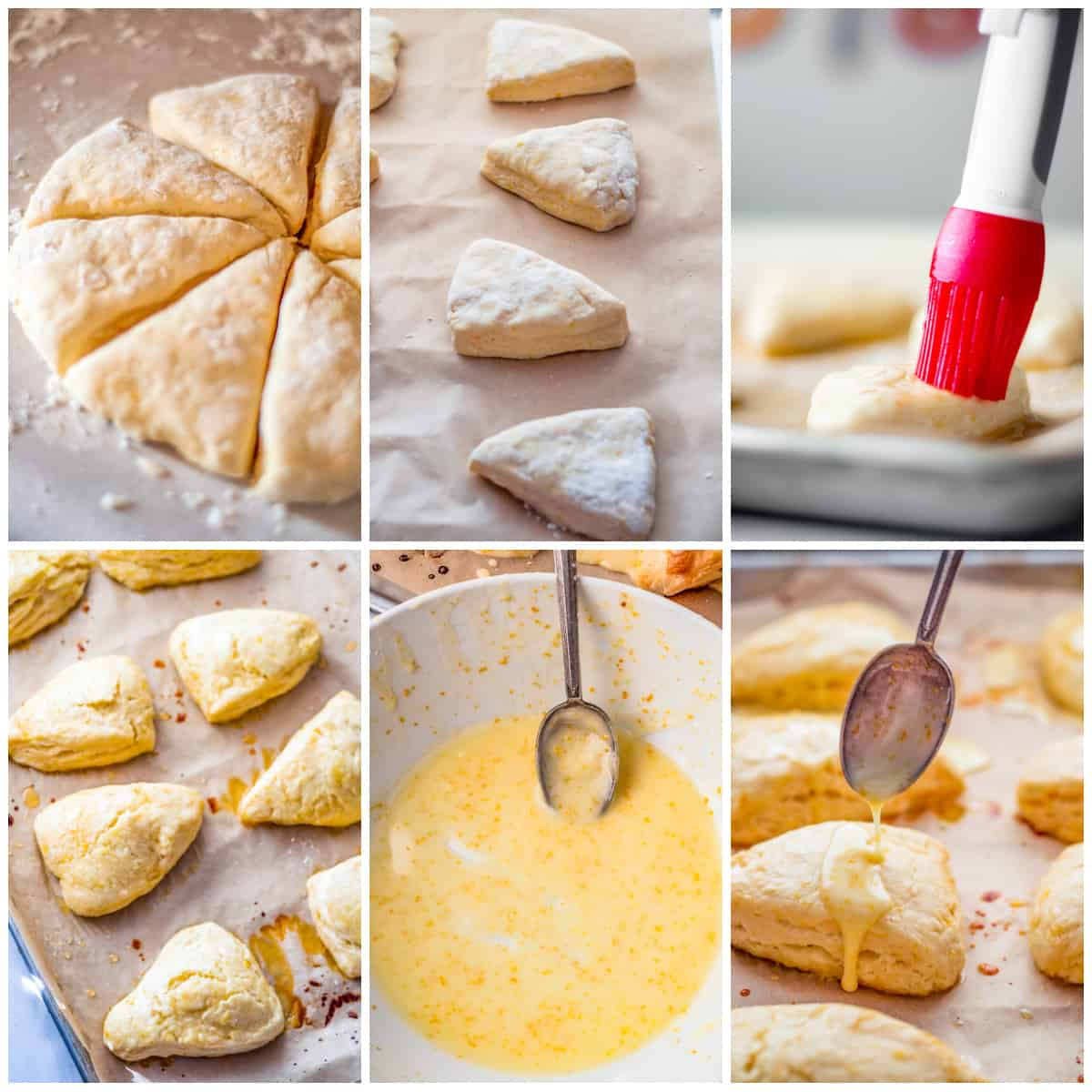 Step by step photos on how to make Orange Scones