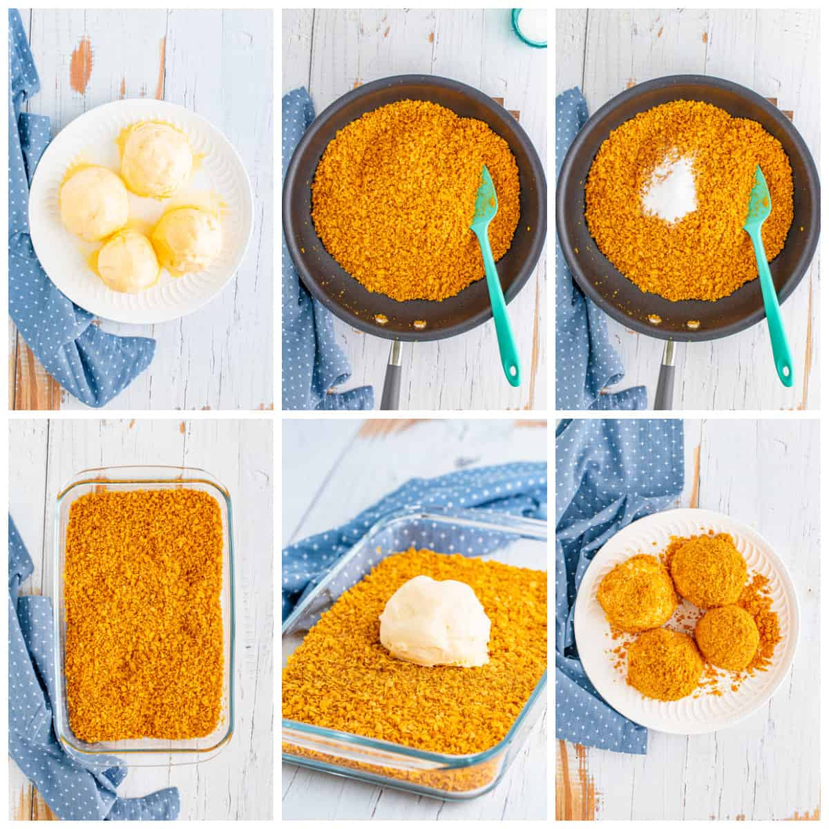 Step by step photos on how to make a Fried Ice Cream Recipe
