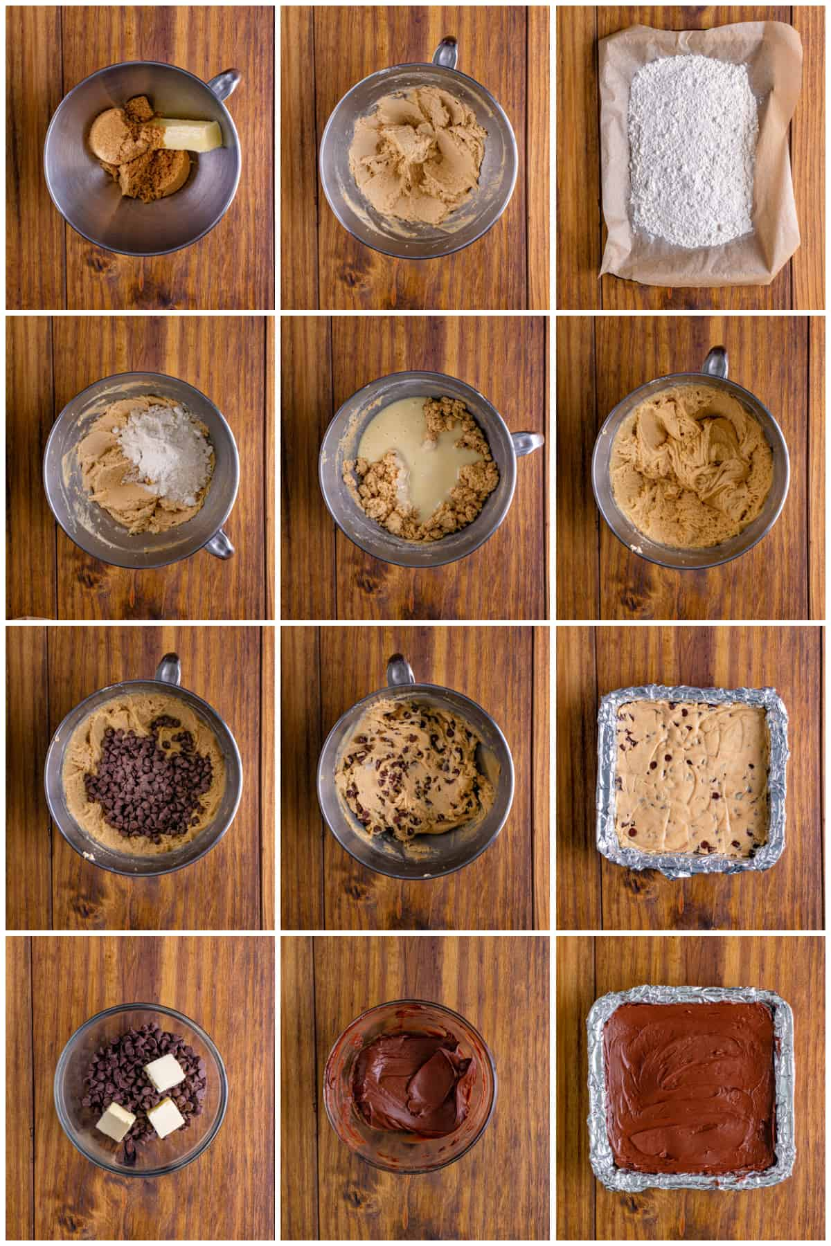 Step by step photos on how to make Cookie Dough Bars